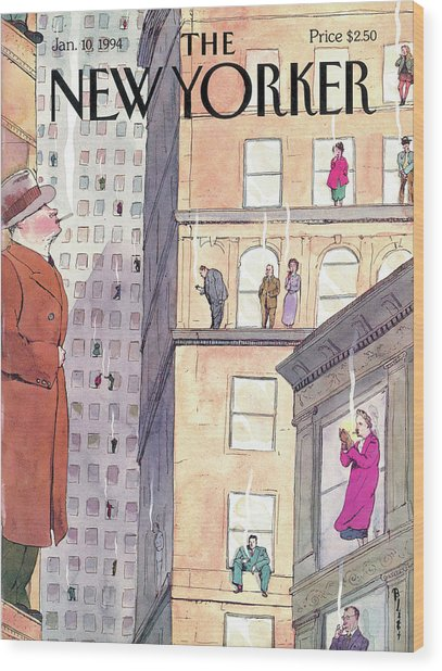 New Yorker January 10th, 1994 Wood Print by Barry Blitt