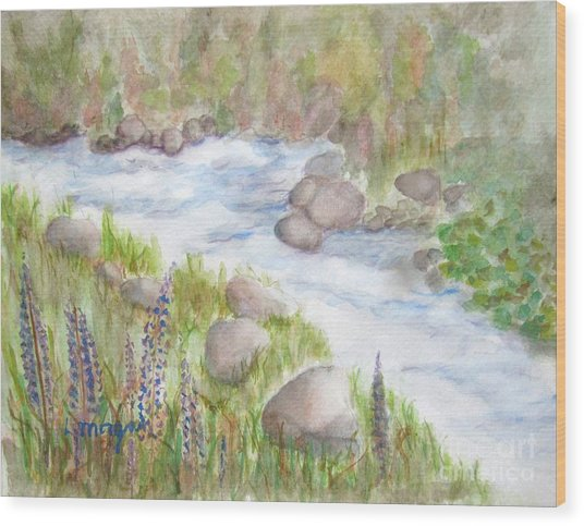 Rest By My Waters Wood Print