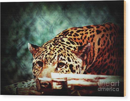 Resting Jaguar Wood Print