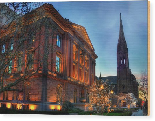 Restoration Hardware - Back Bay - Boston Wood Print by Joann Vitali