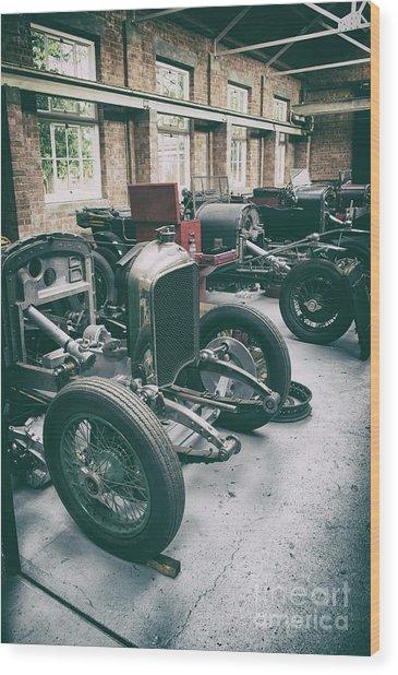 Restoring Vintage Bentleys Wood Print