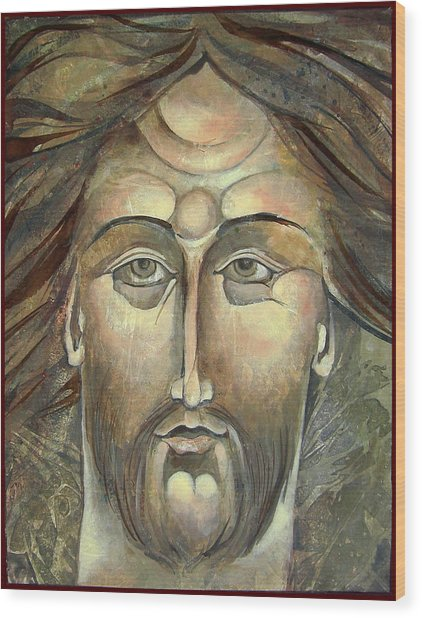 New Face Of Christ Wood Print