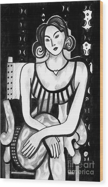 Rethinking Matisse Wood Print