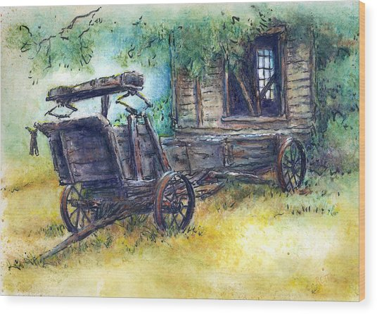 Retired At Last Wood Print