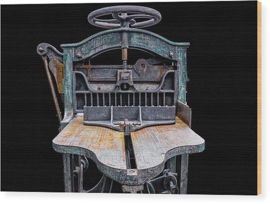 Retired Table Saw Wood Print by Joseph Sassone