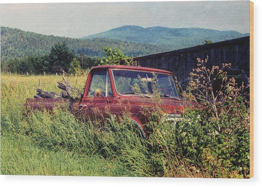 Retro Ford Wood Print by JAMART Photography