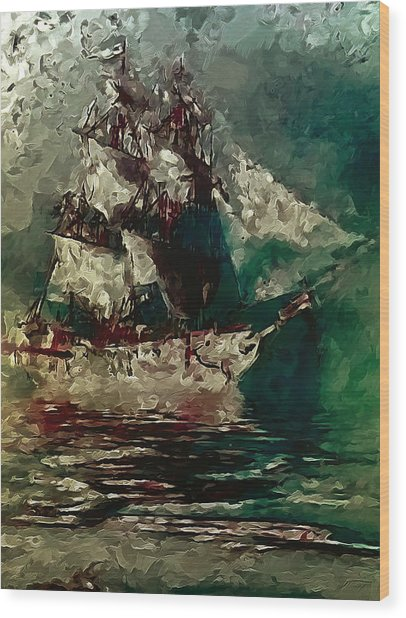 Return Of The Flying Dutchman Wood Print