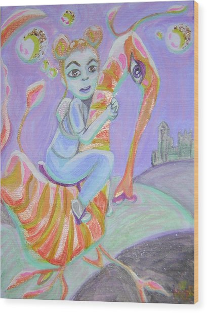 Return Of The Prodigal Water Baby Wood Print by Michelley QueenofQueens