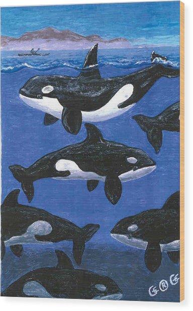 Return Of The Whale Wood Print