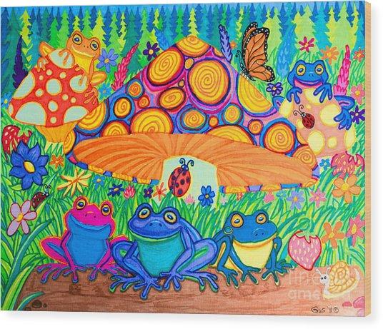 Return To Happy Frog Meadow Wood Print