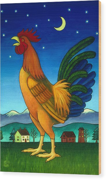 Reveille Wood Print