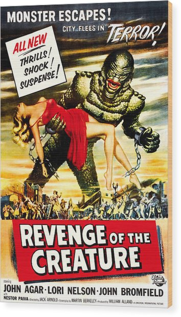 Revenge Of The Creature, 1955 Wood Print by Everett