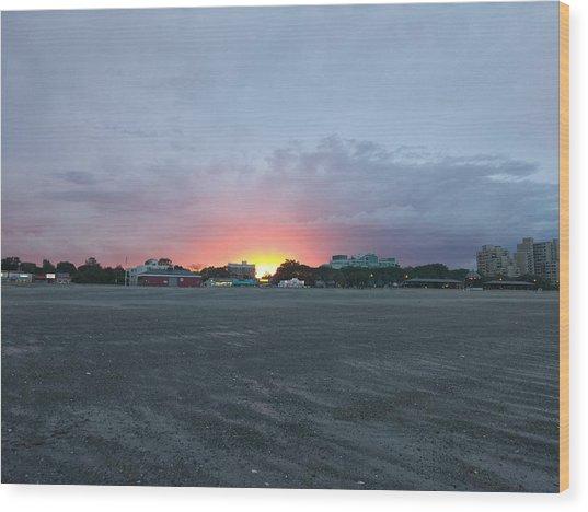 Revere Beach Sunset Wood Print