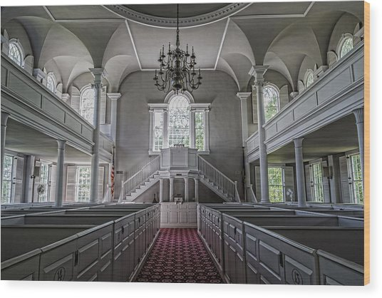 Reverence - Bennington First Church Wood Print