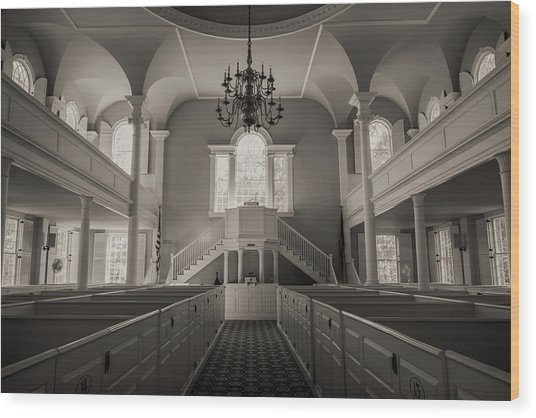 Reverence - Old First Church Of Bennington Wood Print