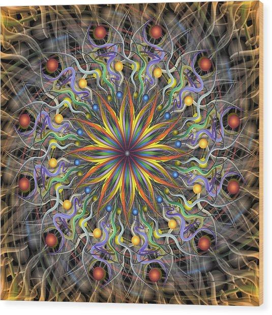 Reverse Cosmosis Wood Print