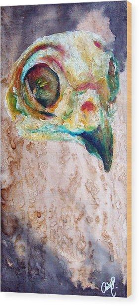 Revolution Burrowing Owl Wood Print