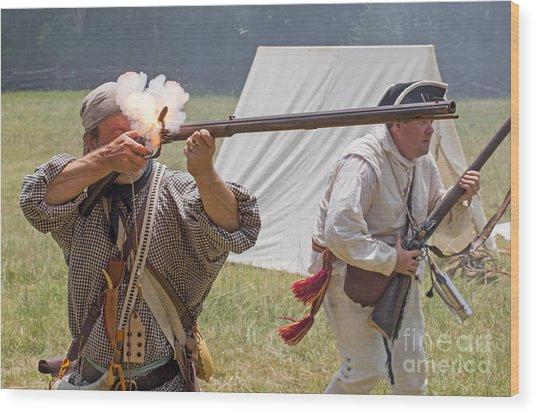 Revolutionary War Reenactment Wood Print