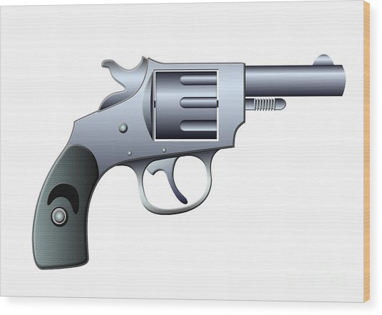 Revolver Wood Print