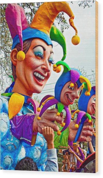 Rex Mardi Gras Parade Xi Wood Print