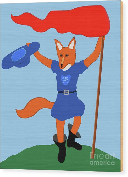 Reynard The Fairy Tale Fox Wood Print