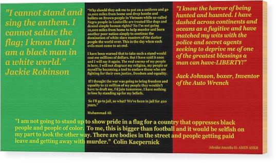 Colin Kaepernick Rbg Wood Print