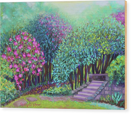 Rhododendrons In The Sunken Garden Wood Print