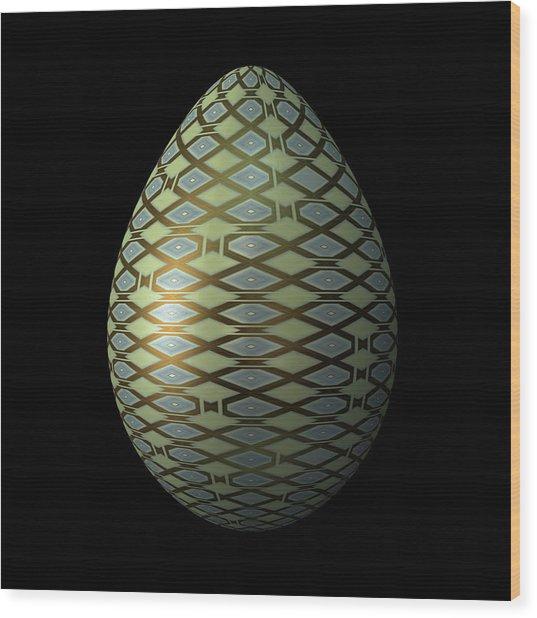 Rhombic Lattice Egg Wood Print
