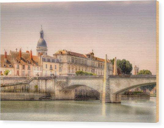 Bridge Over The Rhone River, France Wood Print