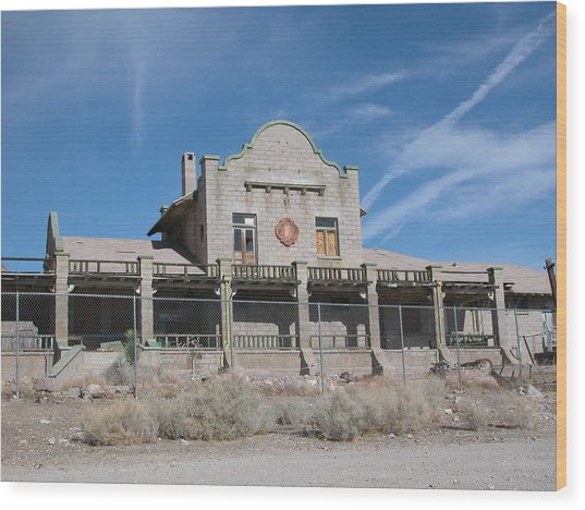 Rhyolite Station Wood Print by William Thomas