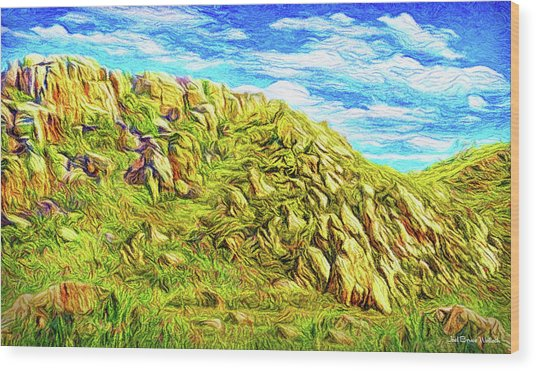 Rhythm Of Primordial Stones Wood Print