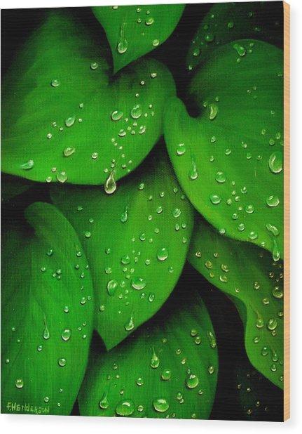 Rhythm Of The Rain Wood Print