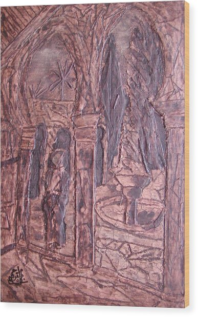 Riad 2008 Wood Print by Mohamed-Hosni Belkorchi