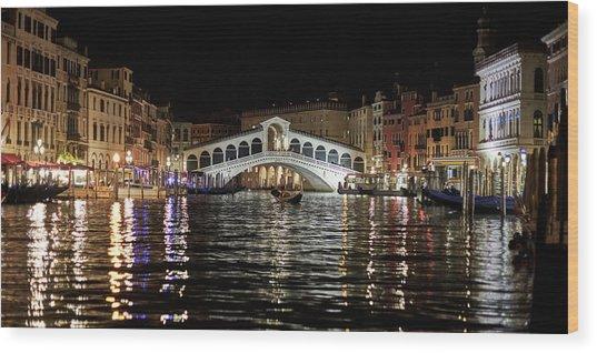 Rialto Night - 4284 Wood Print