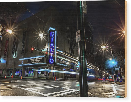Rialto Theater Wood Print