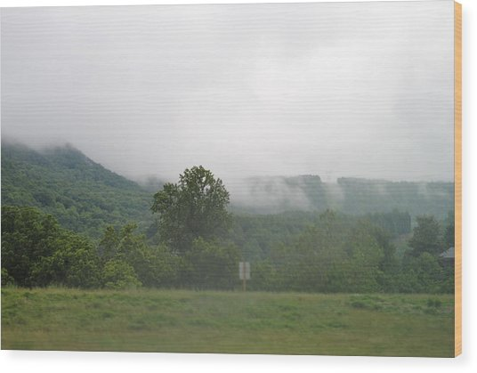 Riasing Mist Wood Print by Christopher Rohleder