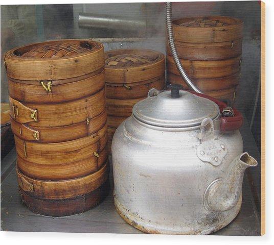 Rice Steamers Wood Print