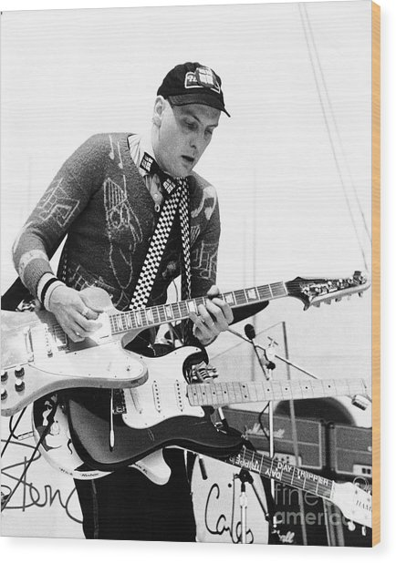 Rick Neilsen Of Cheap Trick 1980 Wood Print