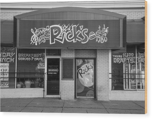Rick's Cafe East Lansing  Wood Print
