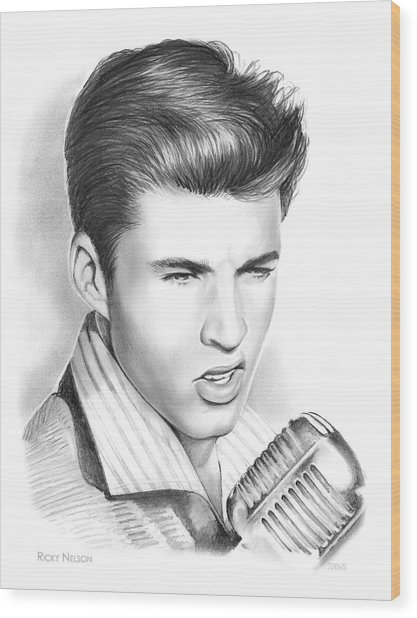 Ricky Nelson Wood Print