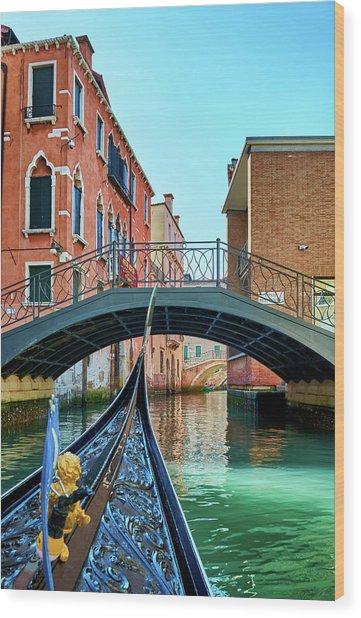 Ride On Venetian Roads Wood Print