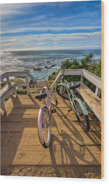Ride With Me To The Beach Wood Print