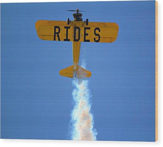 Rides Wood Print