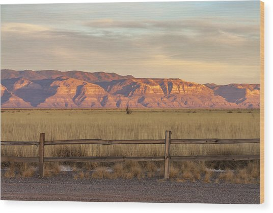 Ridge Outside Alamogordo Wood Print
