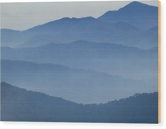 Ridgelines Great Smoky Mountains Wood Print