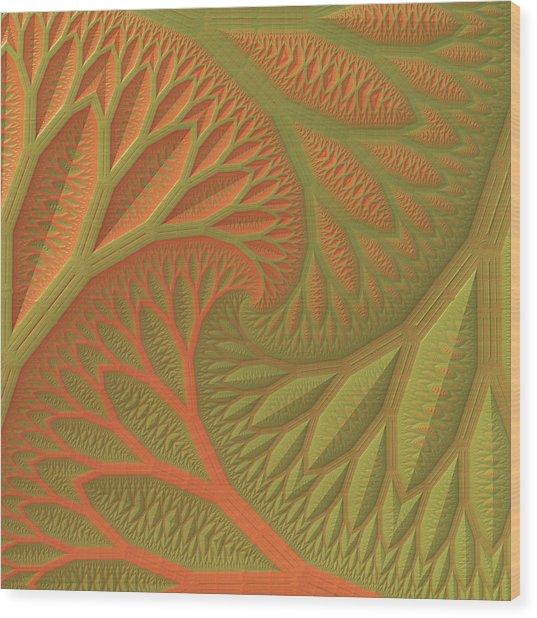 Ridges And Valleys Wood Print
