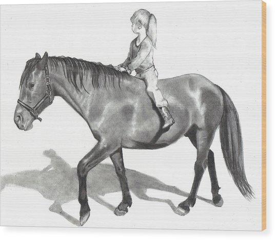 Riding Bareback Wood Print by Joyce Geleynse