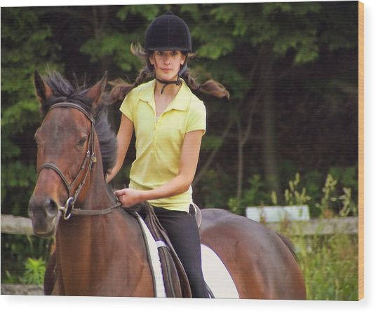 Riding Grace Wood Print by JAMART Photography