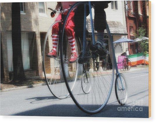 Riding High Wood Print by Steven Digman