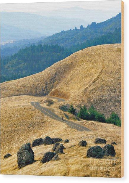 Riding The Mountain Wood Print